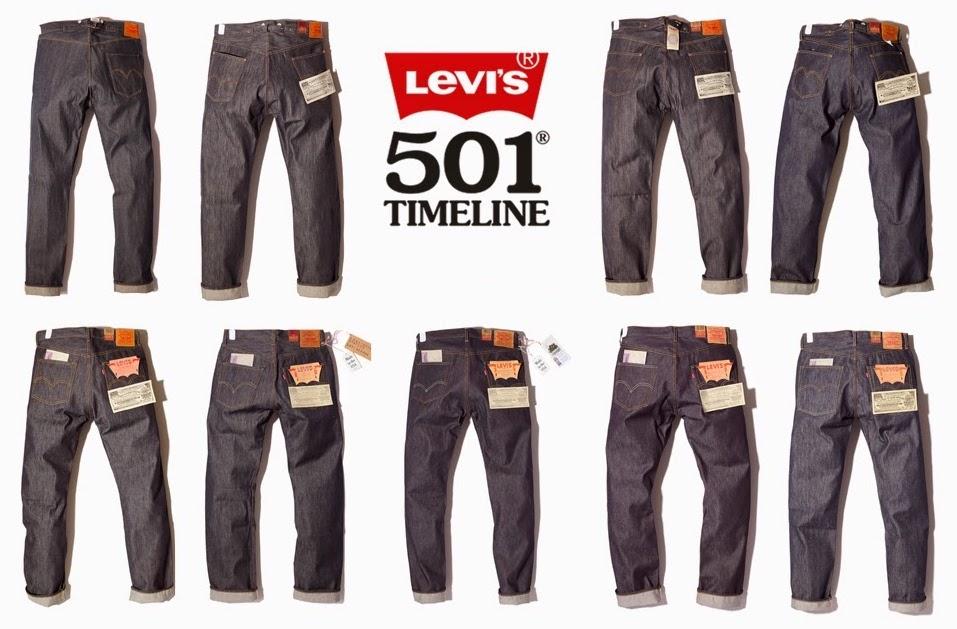 Evolución del jean 501 de Levi's